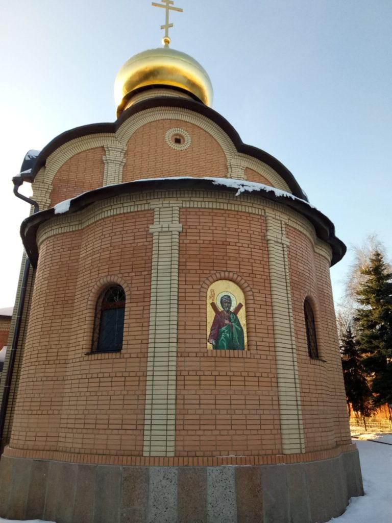 Икона Андрея Первозванного на храме